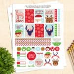 These FREE printable planner stickers for Christmas are so cute! These stickers fit the Happy Planner and similar sized planners.