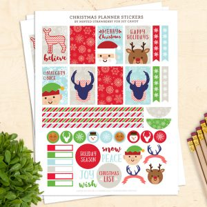 Free Christmas Printable Planner Stickers