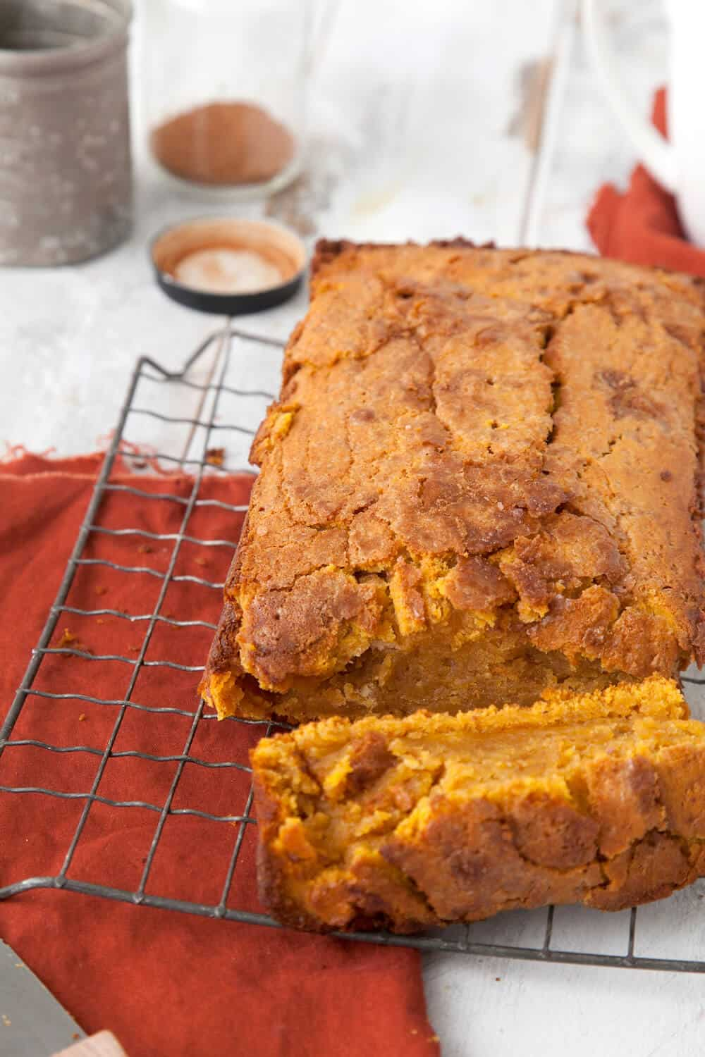 Nothing says holiday baking quite like pumpkin pie bread! This delicious, moist bread is perfect with whipped cream or cream cheese frosting.