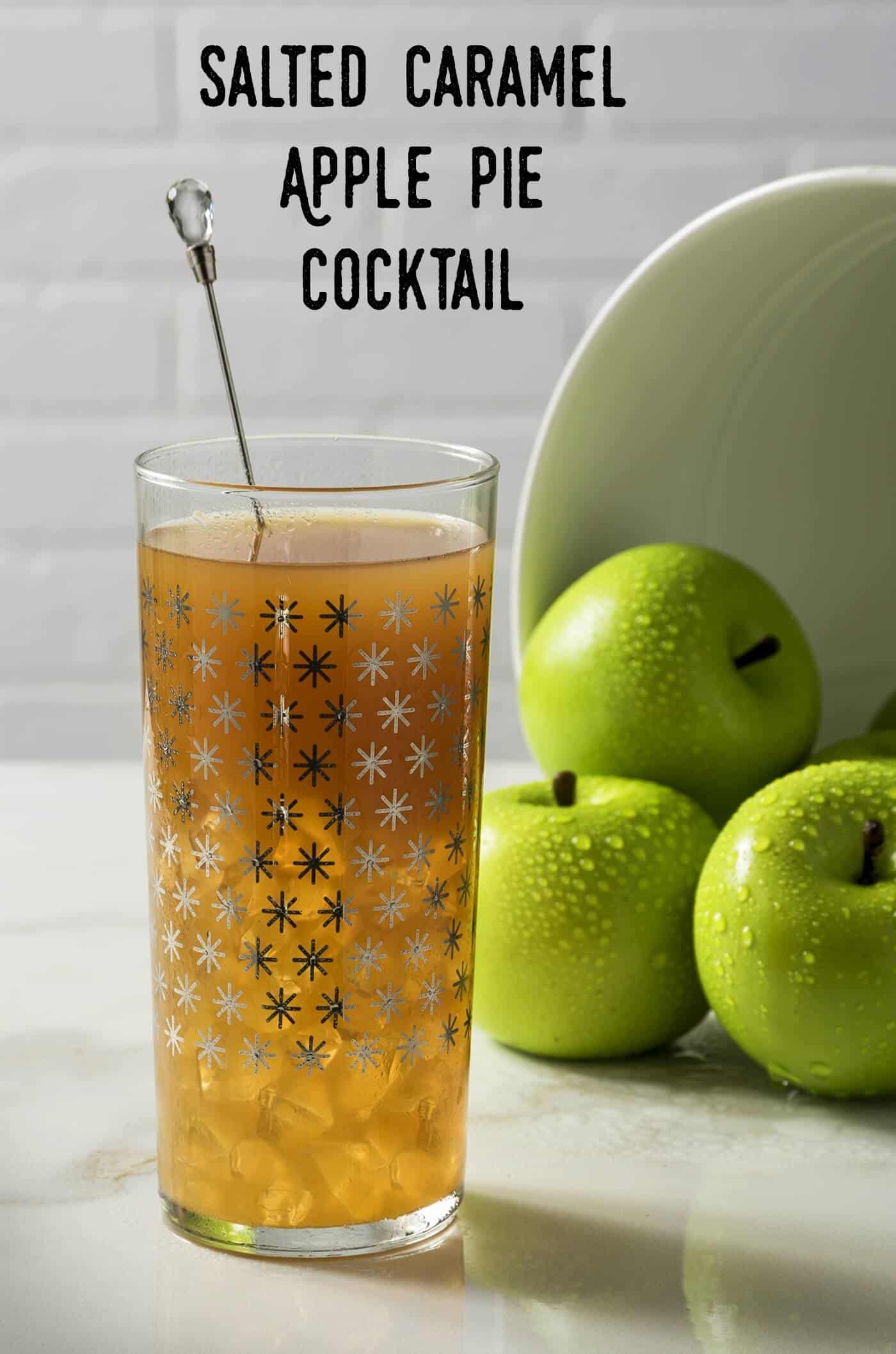 Salted Caramel Apple Pie Cocktail for Fall