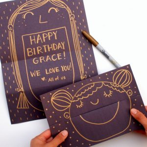 Surprise Smiling Face DIY Cards