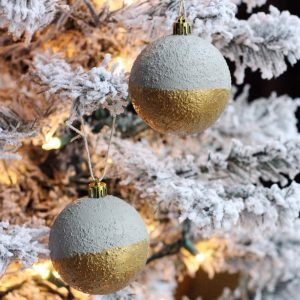 Gold-Dipped Faux Concrete Ornaments
