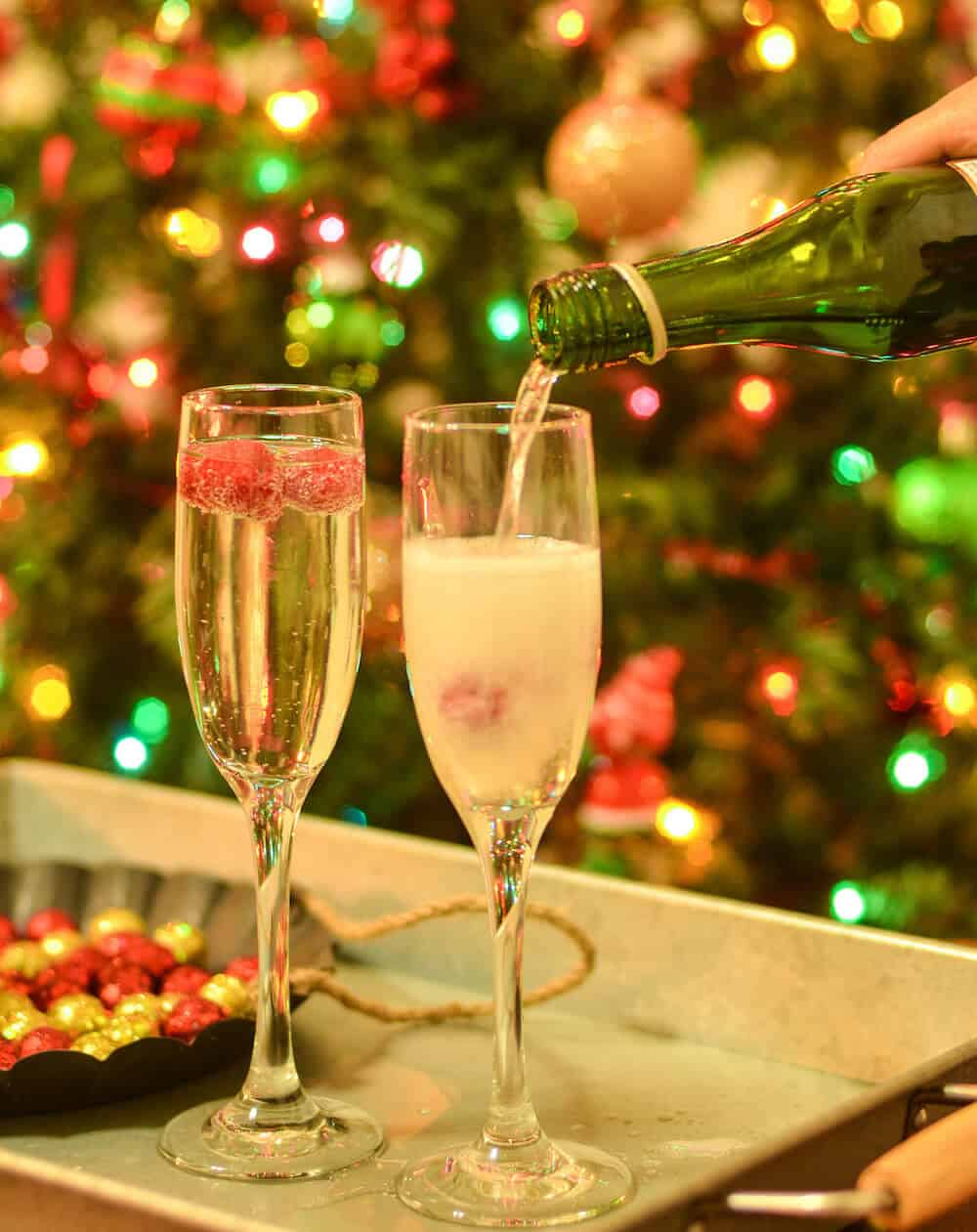 Ring in the new year with this delicious champagne drink! You'll love this cocktail that includes raspberry liqueur and vodka. Cheers!