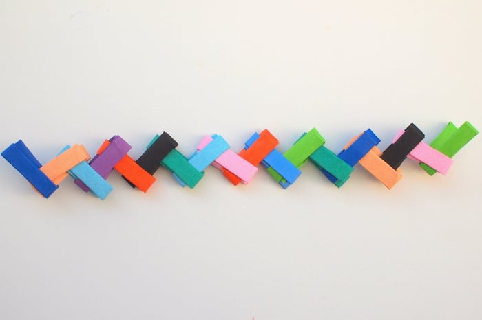 Make an origami paper chain