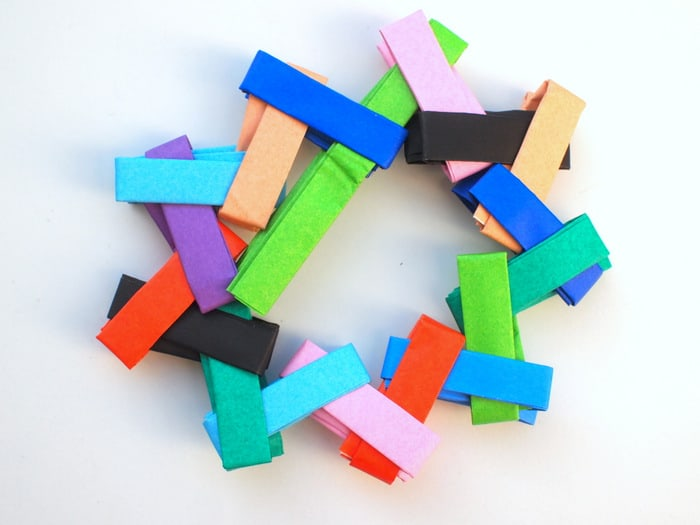 Fold origami ornaments