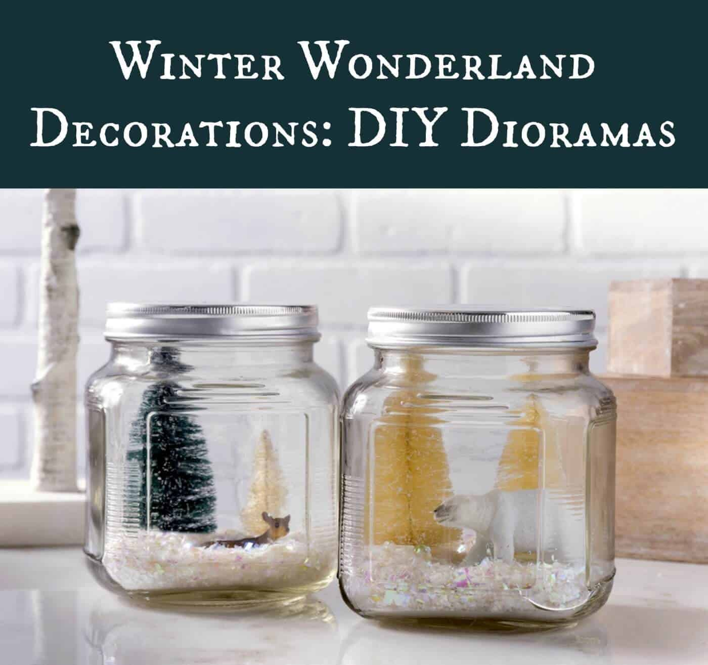 Are you looking for winter wonderland decorations? These jars are so easy to put together with a few simple supplies! Great for mantel decor.