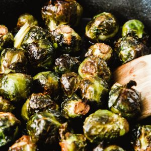 Caramelized Cider Roasted Brussel Sprouts