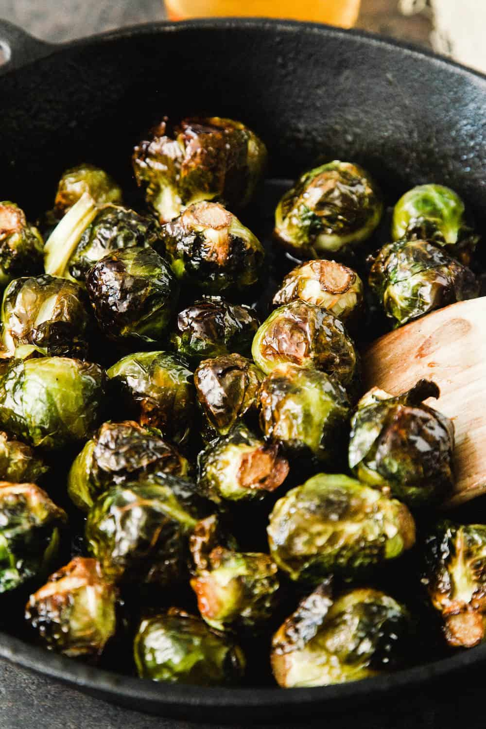 Cider Roasted Caramelized Brussel Sprouts