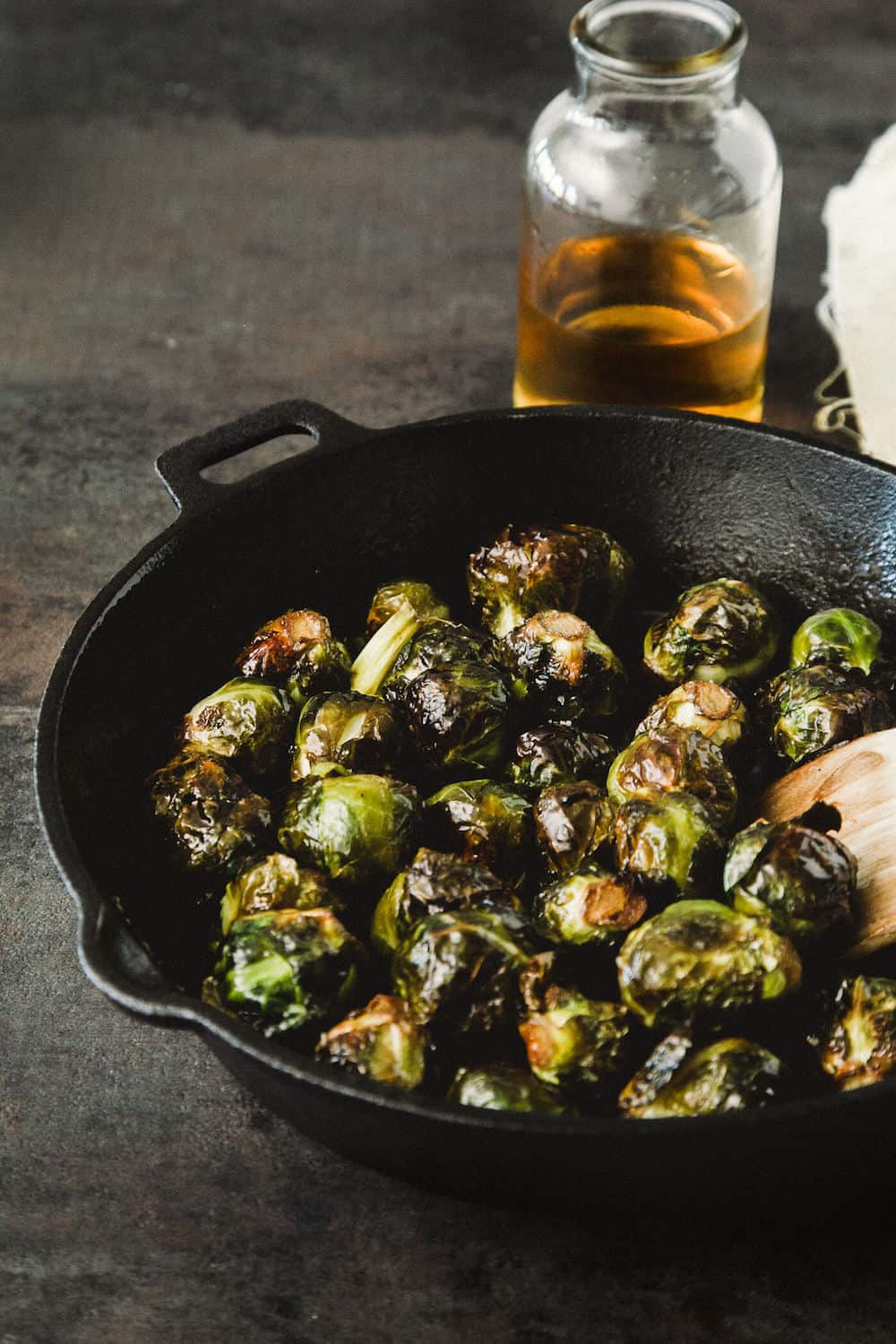 This roasted brussel sprouts dish features brown sugar and apple cider; it also does the impossible: bridges the gap between salad and dessert.