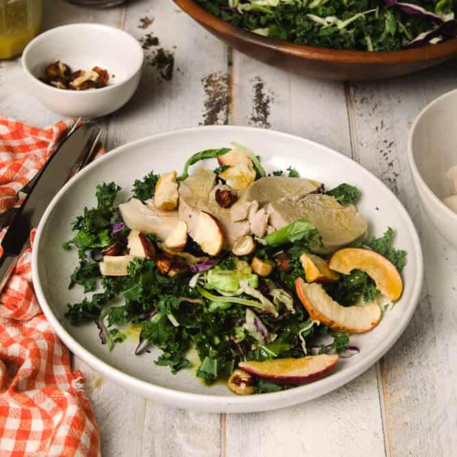 kale chicken apple salad