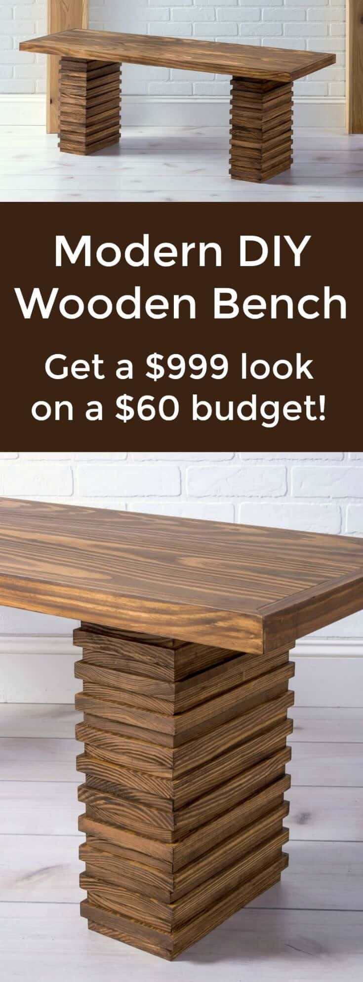 Amazing Crate And Barrel Inspired Modern Wooden Bench Diy Candy Theyellowbook Wood Chair Design Ideas Theyellowbookinfo