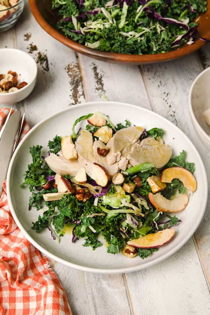 Apple Healthy Chicken Kale Salad Recipe