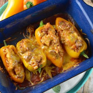 Easiest Ever Stuffed Mini Peppers Recipe