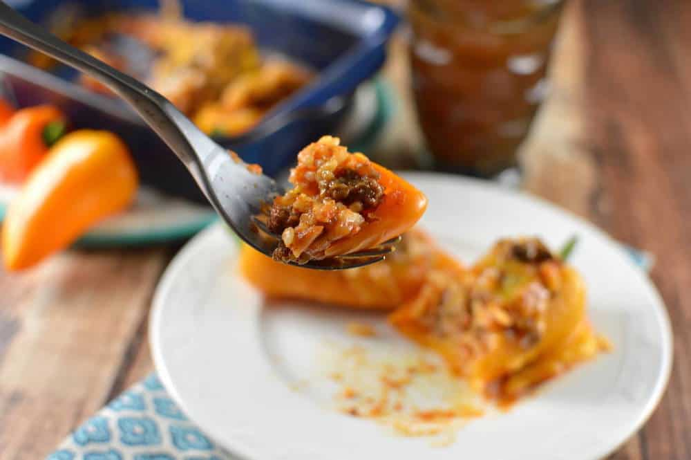 Take a bit of this stuffed mini peppers recipe