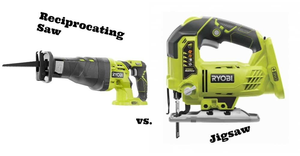 Recip saw vs jigsaw