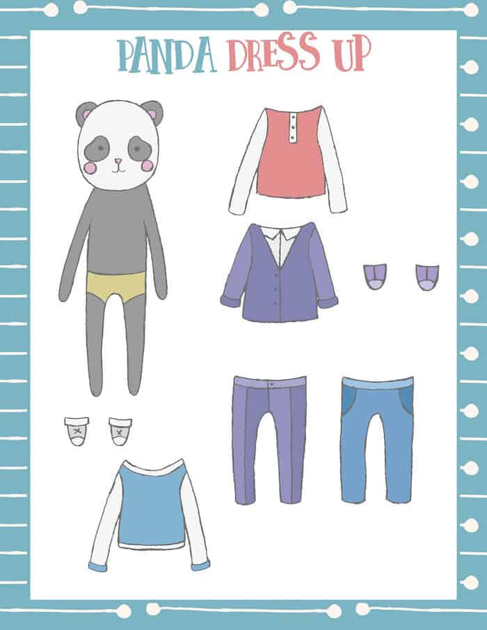 These free panda themed printable paper dolls are as cute as can be! Print them out on cardstock and have fun. Boy and girl versions are included.