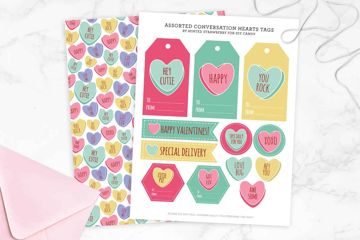 graphic about You Rock Valentine Printable called Communication Center Valentine Tags and Present Wrap - Do-it-yourself Sweet
