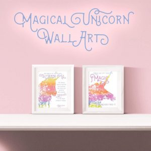 Magical Unicorn Free Printable Wall Art