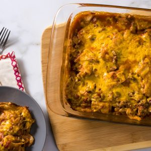 Tortilla and Turkey Mexican Taco Bake