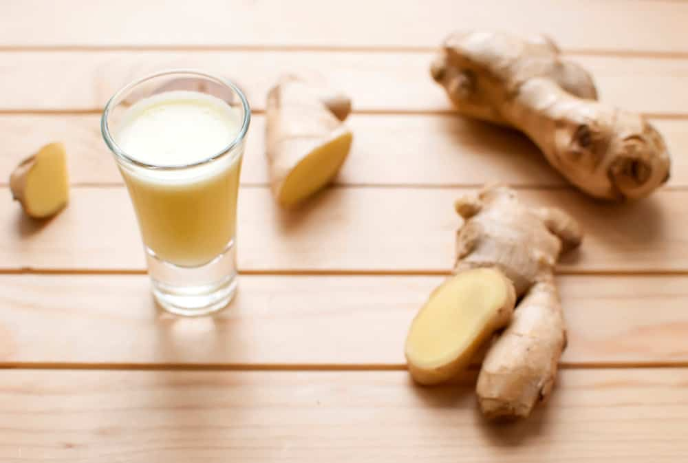 Flu fighting ginger shots recipe
