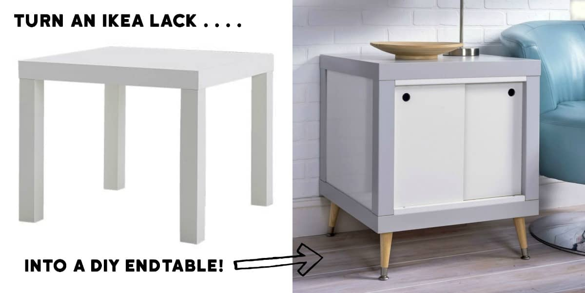 genius ikea hack lack diy end table diy candy. Black Bedroom Furniture Sets. Home Design Ideas