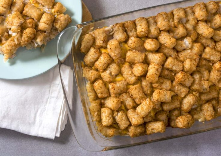 This easy tater tot casserole recipe will become a favorite family dinner. It only has four ingredients - ANYONE can make it!