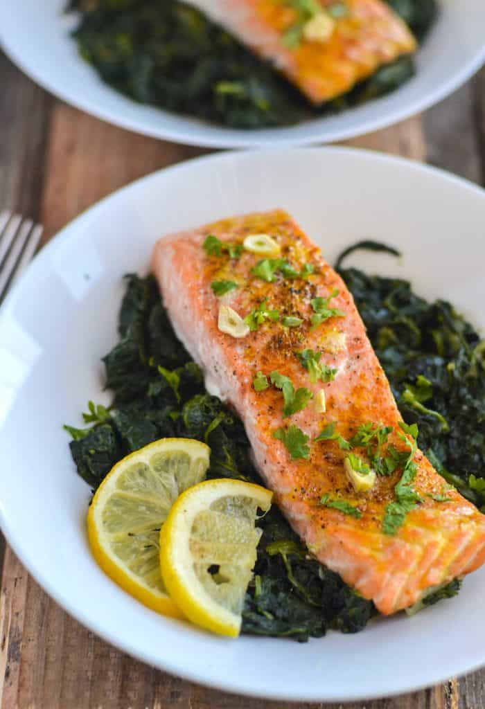 Adrenal fatigue recipes baked salmon spinach