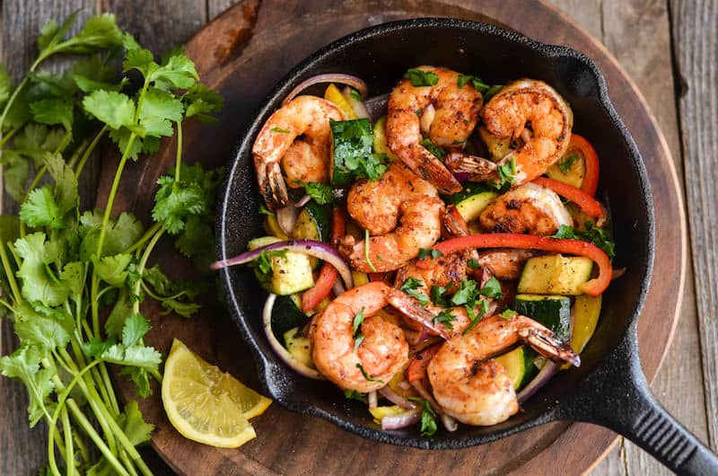 A very quick and simple paleo shrimp recipe that features delicious veggies and is ready in only a few minutes. Great for adrenal fatigue too!