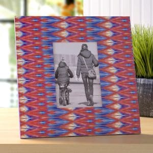 Easy Ikat Inspired Duck Tape Frame