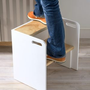 DIY Wooden Step Stool Chair