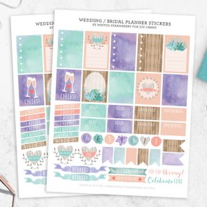 Bridal and Wedding Free Stickers for Planners...