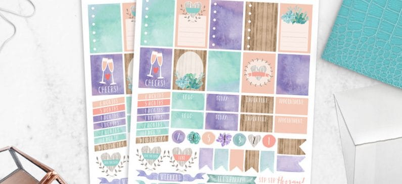 Bridal and Wedding Free Stickers for Planners