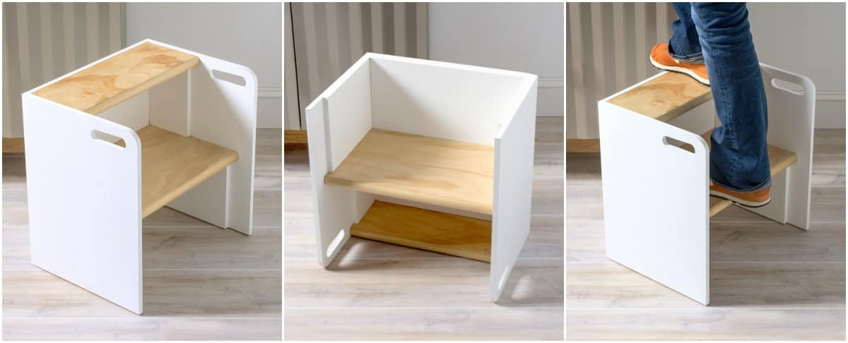 Diy Wooden Step Stool Chair Diy Candy