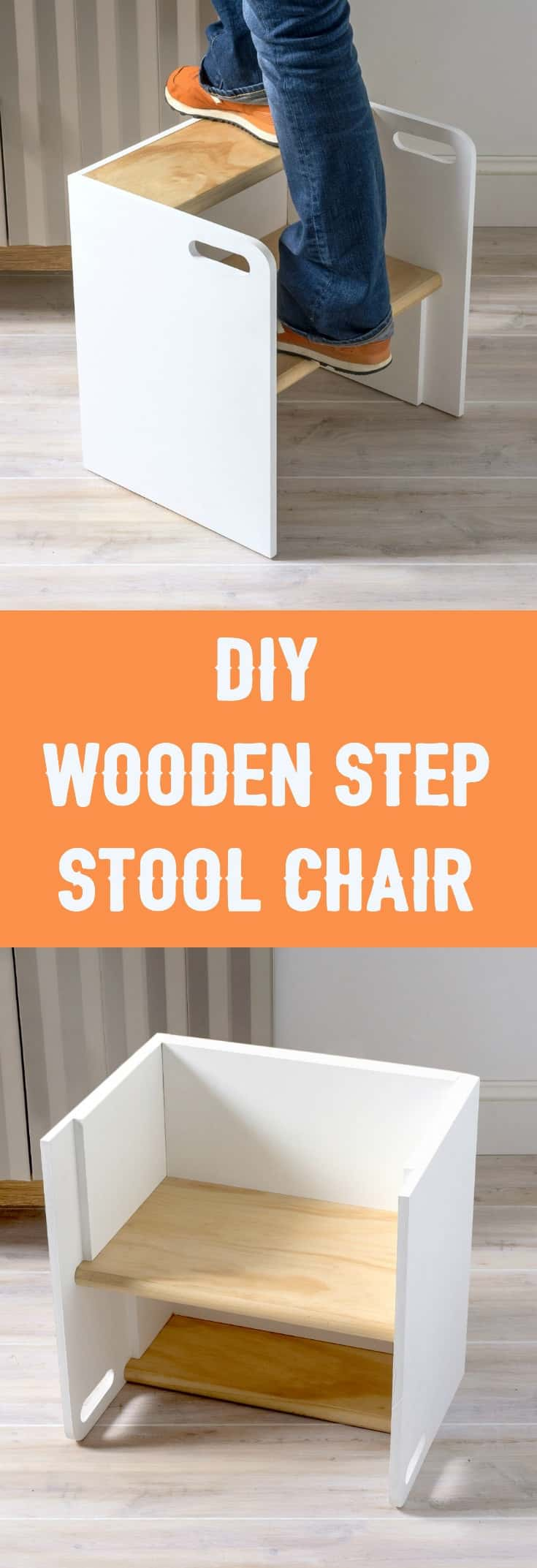 Learn How To Build A Wooden Step Stool That Turns Into A