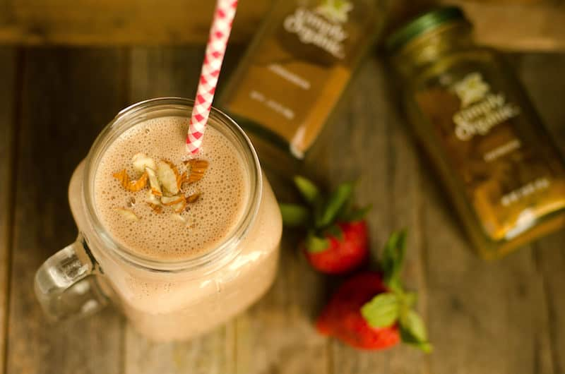 This protein smoothie recipe is the best you'll find! It's delicious and filling, and includes turmeric for anti-inflammatory properties.