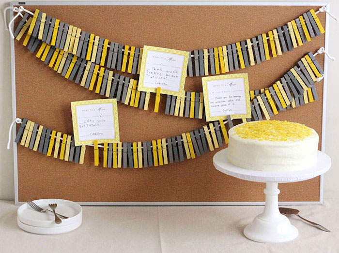 How to make a clothespin banner