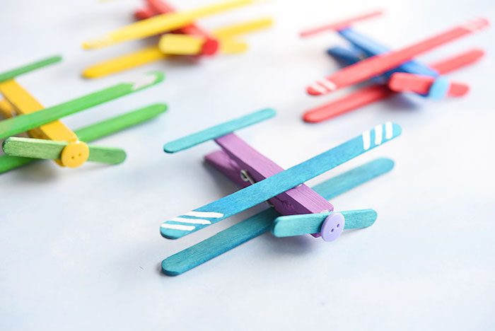 How to make clothespin airplanes