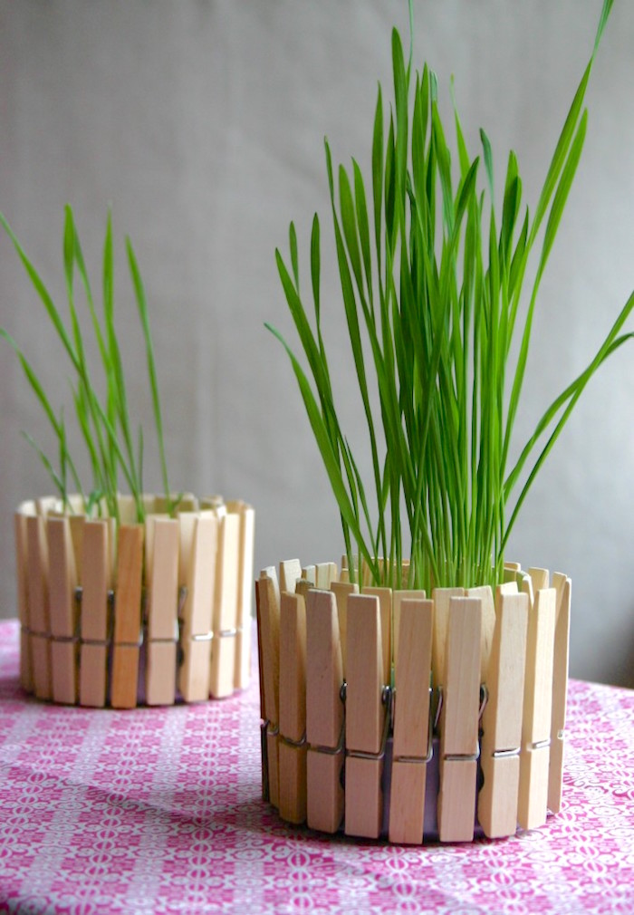 How to make clothespin planters