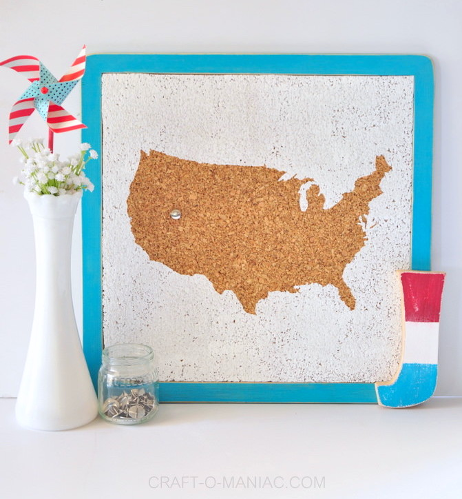 4th of July corkboard