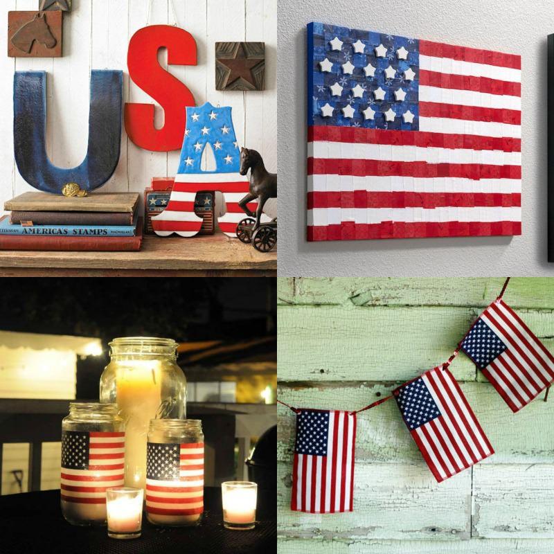 4th of July crafts patriotic decor