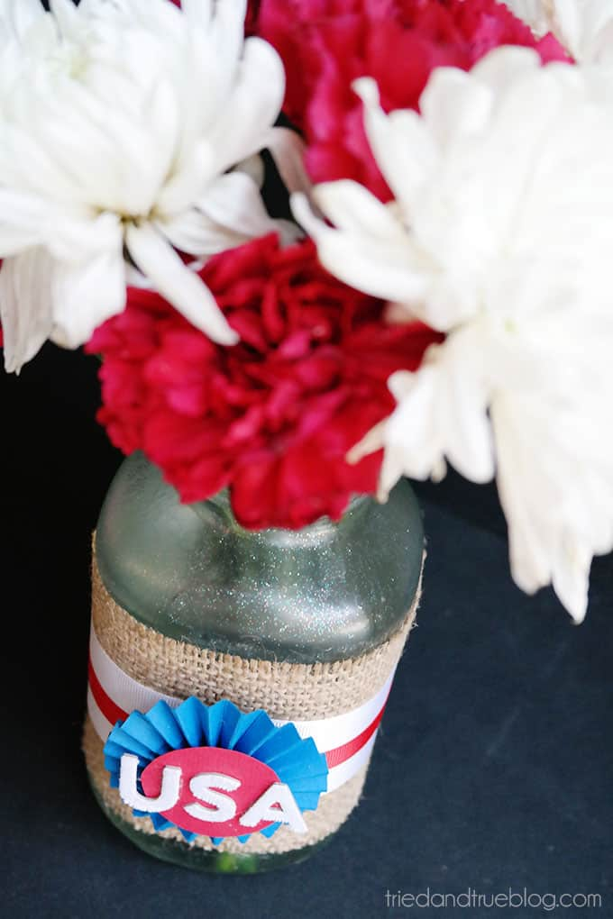 4th of July recycled centerpieces
