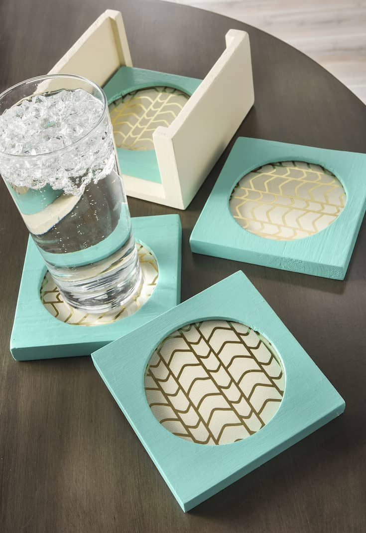 Use your favorite craft paint to revamp these DIY coasters! I got them at the Goodwill and gave them a simple makeover. So easy anyone can do it!