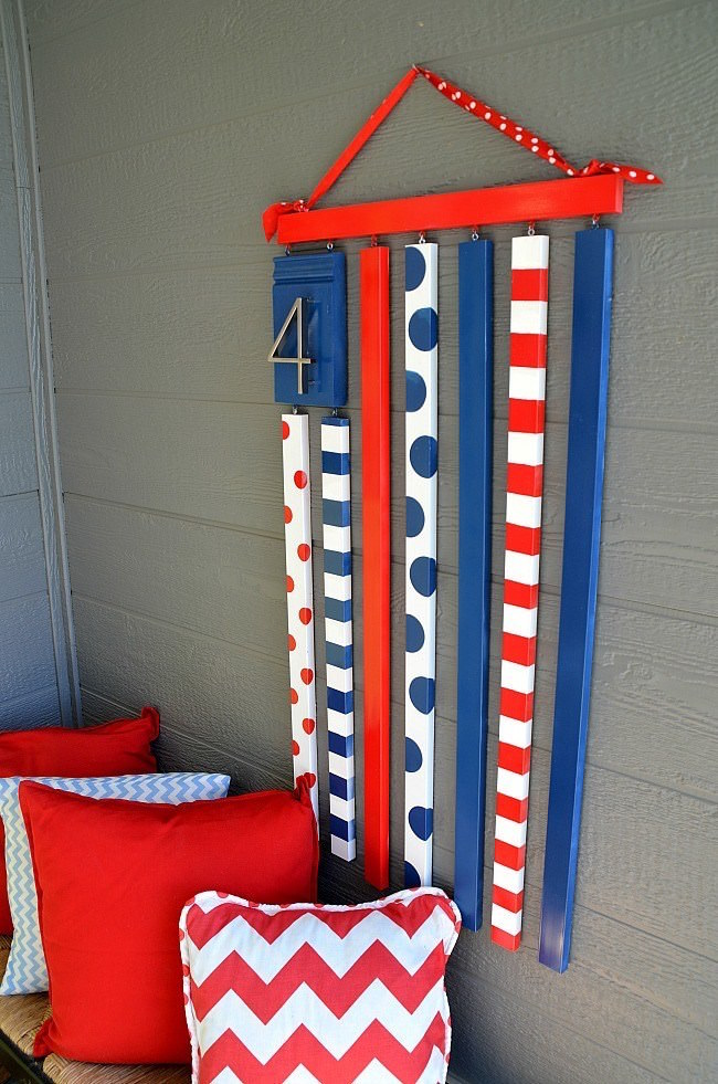 DIY patriotic moulding flag
