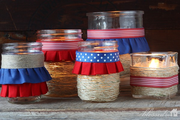 Patriotic luminaries for 4th of July