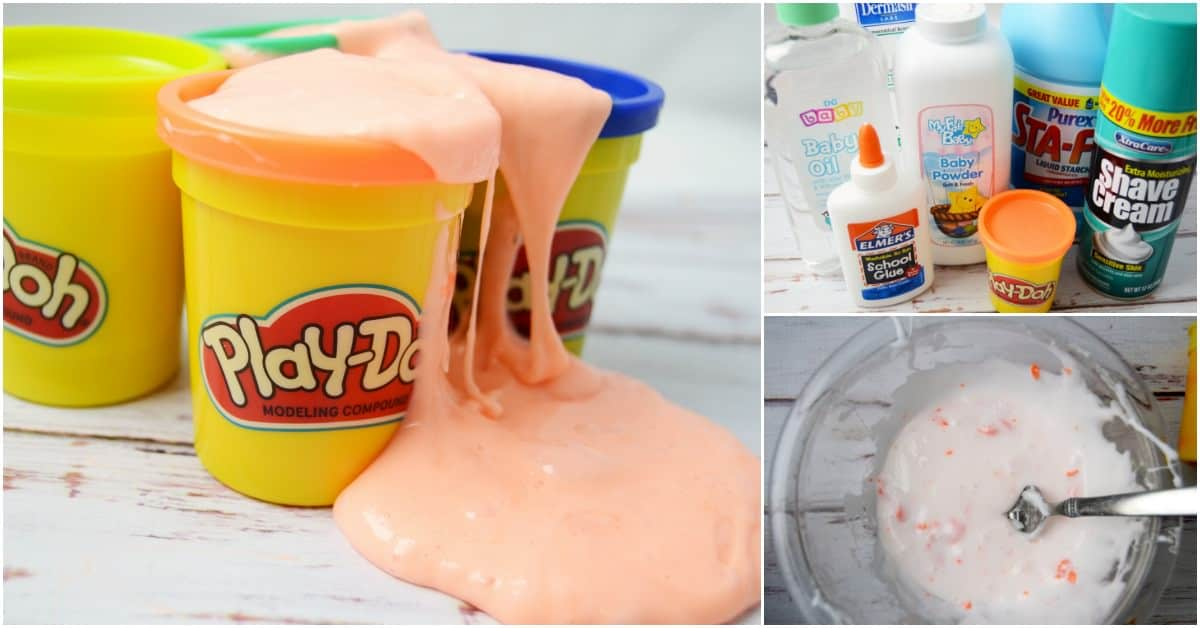 Easy Play Doh Slime Recipe No Borax Diy Candy