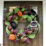 how to make a halloween wreath with mesh ribbon