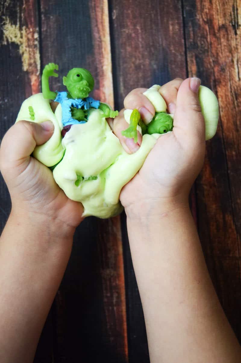 Easy Zombie Halloween Slime Recipe