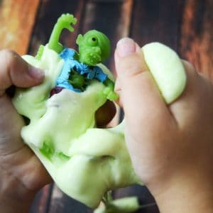 Easy Zombie Halloween Slime Recipe