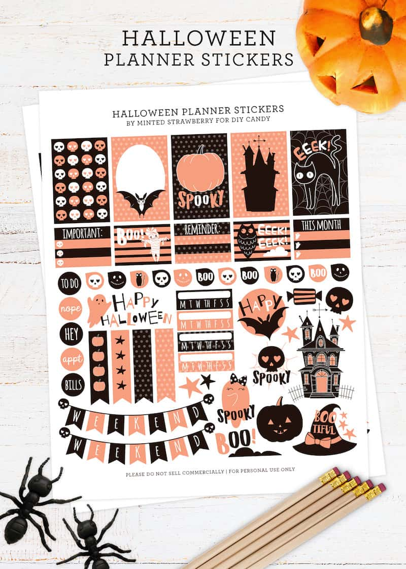 Grab some FREE Halloween stickers for your planner here! These are the cutest you've ever seen. They work with all types of planners out there.