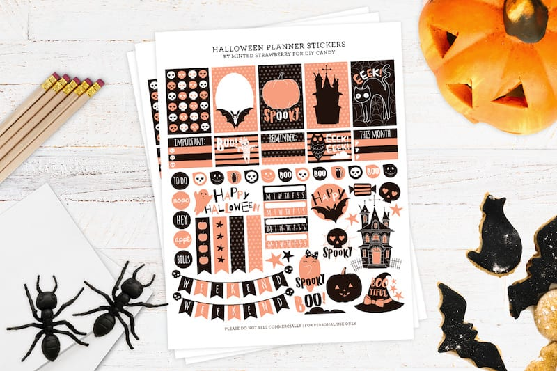 image about Halloween Stickers Printable identify Totally free Halloween Stickers for Your Planner - Do it yourself Sweet